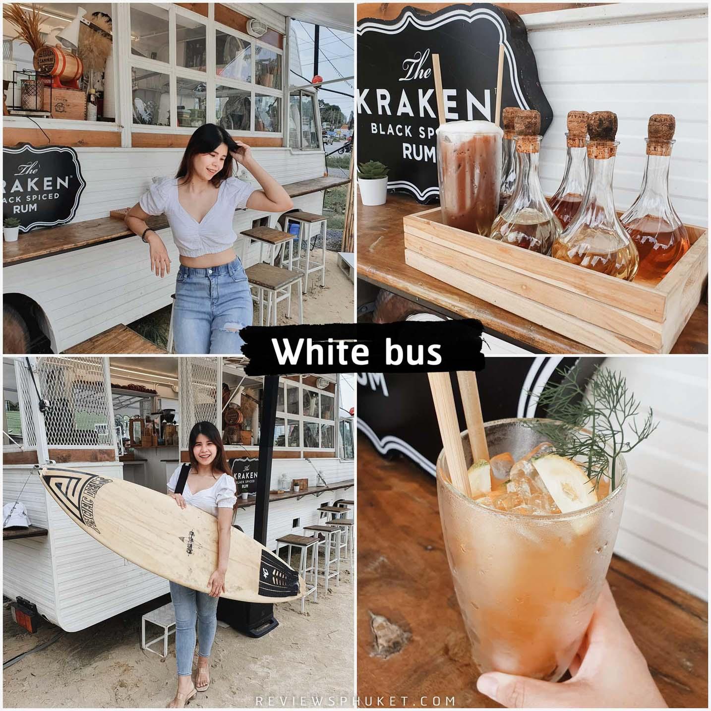 White Bus Speakeasy Bar คาเฟ่รถบัสสุดสวยมีความคิดสร้างสรรค์ ร้านมีหลายสไตล์ให้เลือกนั่งปักหมุดเช็คอินกัน