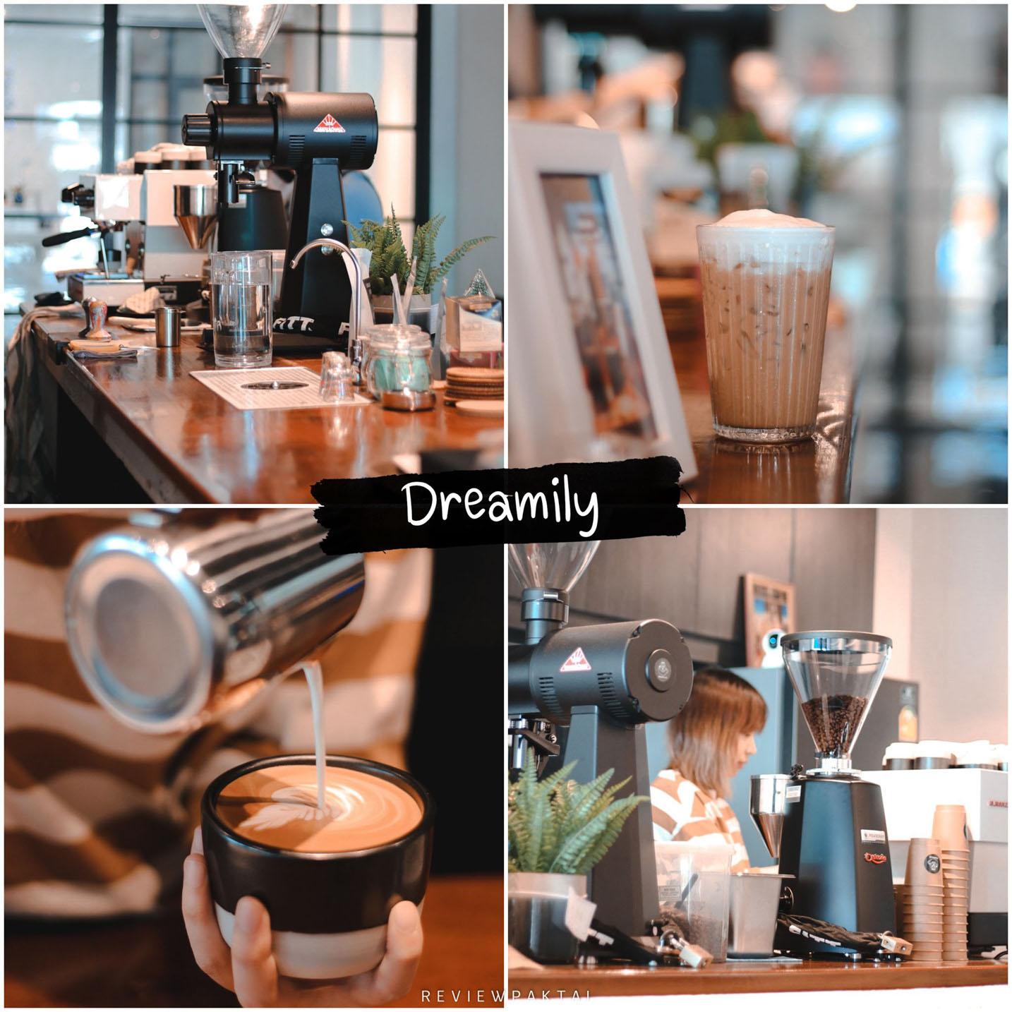 Dreamilycoffeebar สายนั่งคุยกับเพื่อน นั่งชิลเรื่อยๆได้ทั้งวัน โทนร้านขาวดำบรรยากาศดี กาแฟอร่อย ต้องร้านนี้เลย