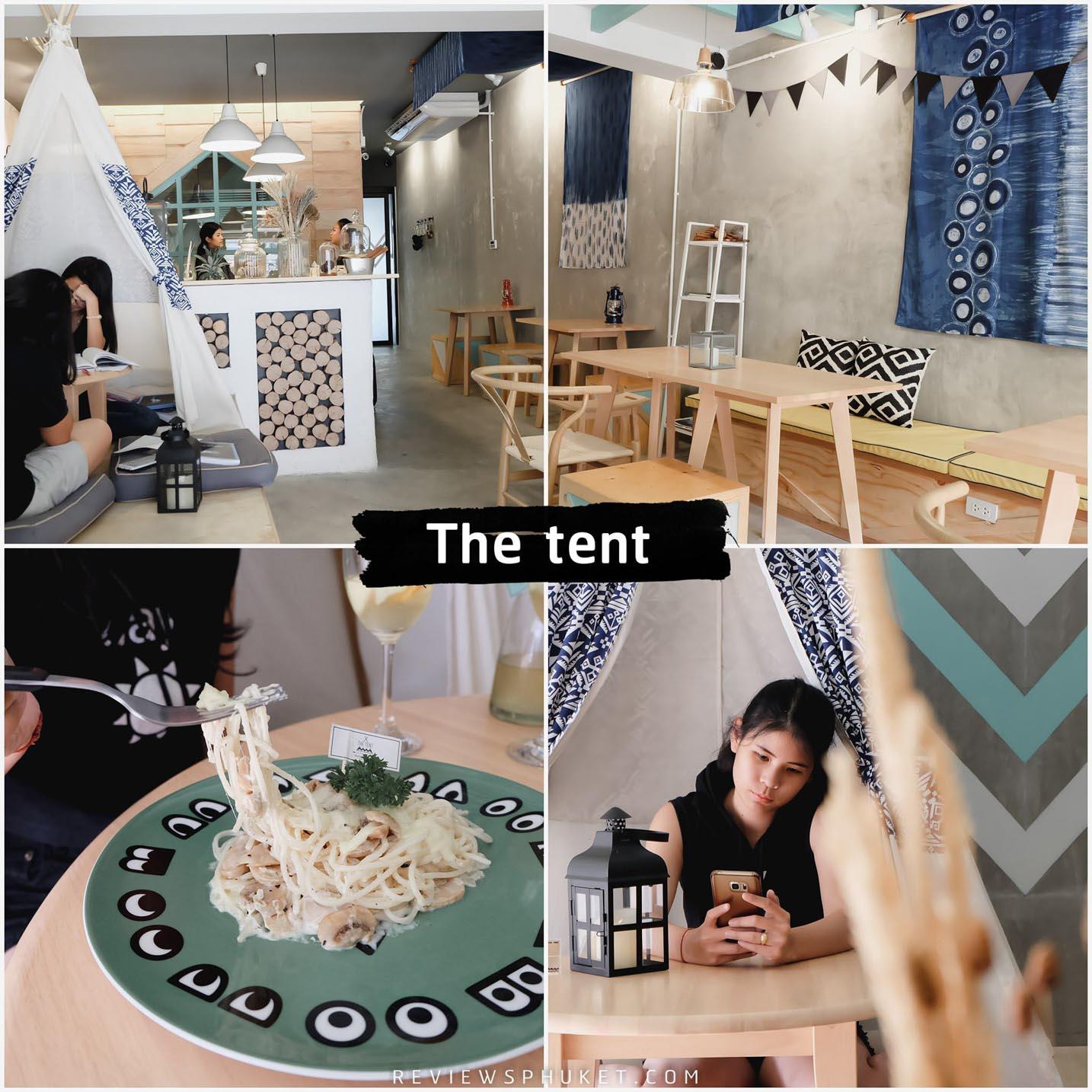 The tent ร้านเก๋ๆ ตกแต่งน่ารักบรรยากาศร้านดี เมนูอาหารมีให้เลือกเพียบบ 10/10!