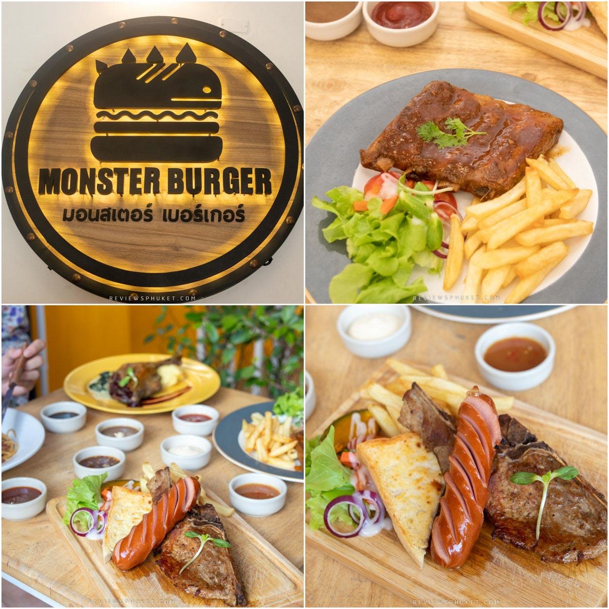 Monster Steak เสต็กร้านเด็ดเปิดใหม่แห่งภูเก็ต ที่ยก Monster Burger ร้านดัง ในตำนานจากเกาะพีพี มาให้ลูกค้าเกาะภูเก็ตได้ลิ้มรสกันครับ